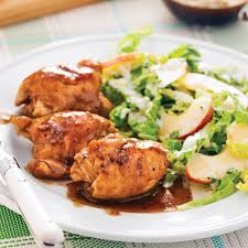 cuisiner des cuisse de poulet hauts de cuisses caramélisés érable et ail soupers de semaine