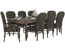 Dining Room In French Bernhardt Belgian Oak 5pc Round Dining Room Set With Sleigh Back