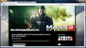 get free mass effect 3 n7 hoodie dlc youtube