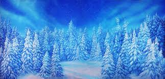 snowy christmas pictures snowy christmas tree ridge scenic stage backdrop rental theatreworld
