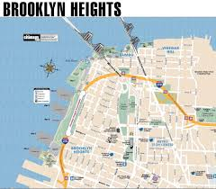 Street Map Of Nyc Brooklyn Heights Promenade Bike Map Maplets