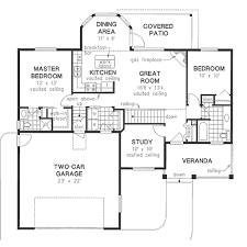 house plans with vaulted ceilings traditional style house plan 3 beds 2 00 baths 1194 sq ft plan