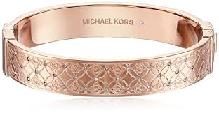 Monogram Bangle Bracelet Michael Kors Mkj4472 Rose Gold Monogram Bangle Bracelet Pcmdzn8ck0