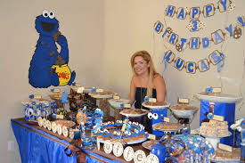 Cookie Monster Baby Shower Decorations Cookie Monster Birthday Party Ideas Photo 9 Of 29 Catch My Party