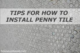 How To Lay Floor Tile In A Bathroom - for how to install penny tile house updated