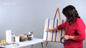 how to paint stripes on a wall paint techniques youtube