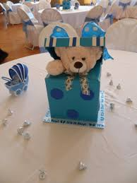 teddy centerpieces for baby shower boy baby shower party decorations by teresa