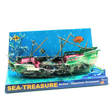 air aquarium sea shipwreck caribbean ship ornaments fish tank