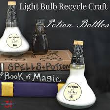 light bulb recycle potion bottle organized 31