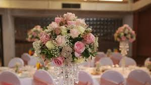 Purple Decorations Interior Of A Wedding Hall Decoration Ready For Guests Beautiful