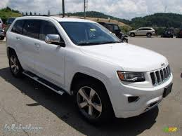 jeep grand cherokee brown 2014 jeep grand cherokee overland 4x4 in bright white photo 4