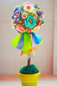 Candy Topiary Centerpieces - sigh styles promotes origami topiary by rotessa