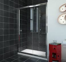 6mm framed sliding shower door with magnetic closing mechanism