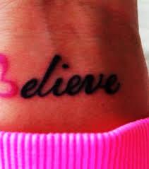believe wrist tattoo for girls tattooshunt com