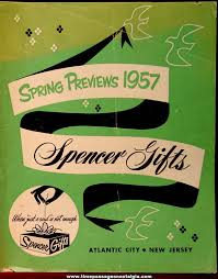 Mail Order Gifts 1957 Spencer Gifts Spring Preview Novelty Mail Order Gift Catalog