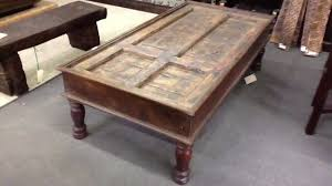coffee tables and trunks made from wood that s new antique and