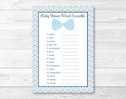 bow tie baby shower word scramble bow tie baby shower