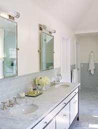 Gray Subway Tile Backsplash Design Ideas - Bathroom subway tile backsplash