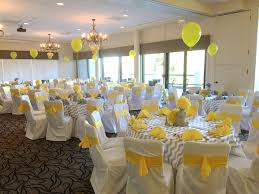 table settings for yellow and grey baby shower yellow and grey