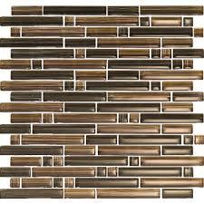 epoch brushstrokes marrone 1503 s strips mosaic glass mesh mounted