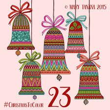 mary tanana 2015 christmas to color bells u c ugly i c