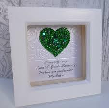 55th wedding anniversary 55th anniversary gift 55th wedding anniversary gift 55th emerald