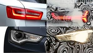 audi s6 vs audi a6 vs 2015 a6 facelift comparison headlights and taillights
