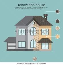 House Flat Design Smart Home Flat Design Style Vector Stock Vector 509577946