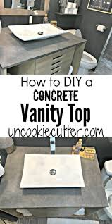 Concrete Vanity Vanity Top Made From Concrete Diy For Less Uncookie Cutter