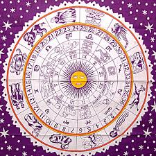 celestial and horoscopic designs crescent moon and zodiac signs