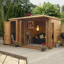 How To Build A Shed Against House by 10 X 8 Waltons Contemporary Summerhouse With Side Shed Lh