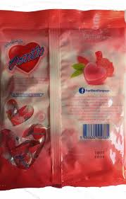 lychee fruit candy 100 tablets hartbeat love heart sweet candy 4 flavour thailand