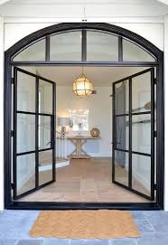 Exterior Steel Entry Doors With Glass Steel And Glass Front Doors Transitional Home Exterior