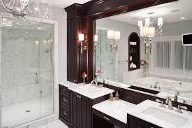 Bathrooms With L Shaped Vanities Very Dark Bathroom Cabinets TSC - Dark wood bathroom cabinets