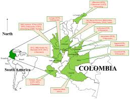 Colombian Map Echinococcosis In Colombia U2014 A Neglected Zoonosis Intechopen
