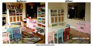 Play Kitchen From Old Furniture by 10 Easy Steps To Create Order In Your Playroom Chai Mommas
