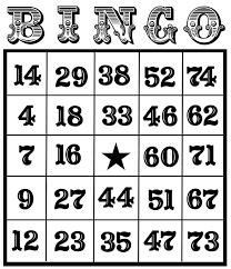 bingo card clipart 34