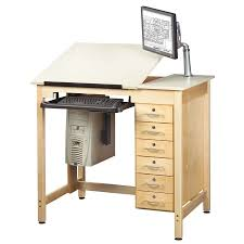Computer Drafting Table Diversified Woodcrafts 30 X 42 Student Computer Drafting Table