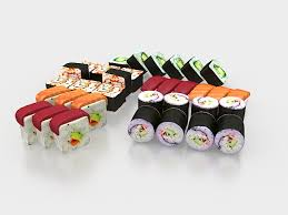 models cuisine various sushi 3d model 3ds max files free modeling 27787