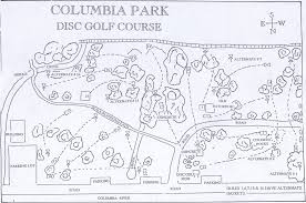 Wa Map Columbia Park Professional Disc Golf Association