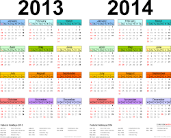 2013 2014 calendar free printable two year pdf calendars