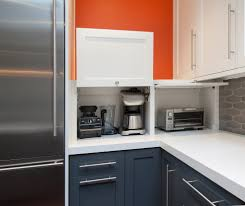 Kitchen Cabinet Appliance Garage by Beautiful Kitchen Appliance Garage Kitchen Modern With White