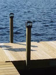 Wooden Solar Lights by Floating Wood Docks Great Northern Docks