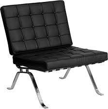Leather Lounge Chair Furniture Black Leather Lounge Chair With Metal Legs