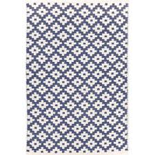 Blue And White Area Rugs Dash And Albert Rugs Samode Woven Blue Indoor Outdoor Area
