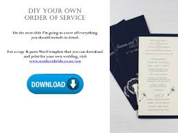 Design Your Own Wedding Program Wedding Order Of Service What To Include In Your Wedding Program