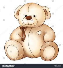 cartoon lovely teddy bear toy saint stock illustration 710481844