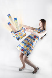 capri sun handmade dress u0026 bag recycled fashion portrait flickr
