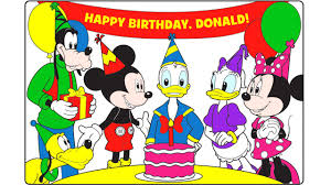 mickey mouse clubhouse happy birthday donald learn colors