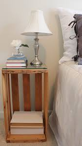 beautiful wood diy bedside table with interesting armature side
